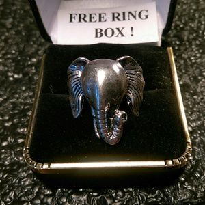 Other - Tibet Silver Ring -Elephant's Head- Sz 6.5